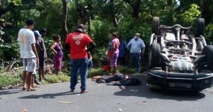 Un fallecido tras aparatoso accidente de tránsito en San Jorge, San Miguel