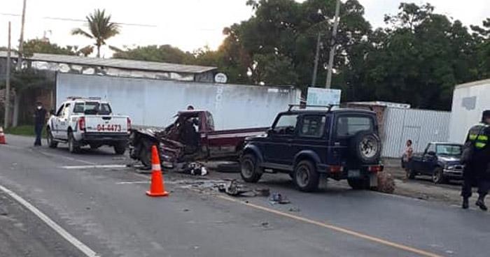 Un fallecido tras fuerte choque en carretera a San Juan Opico