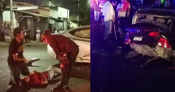 Conductor en estado de ebriedad causa múltiple choque en calle de Santa Ana