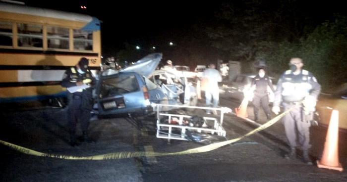 Accidente de transito en Santa Cruz Michapa deja 2 fallecidos y 3 lesionados