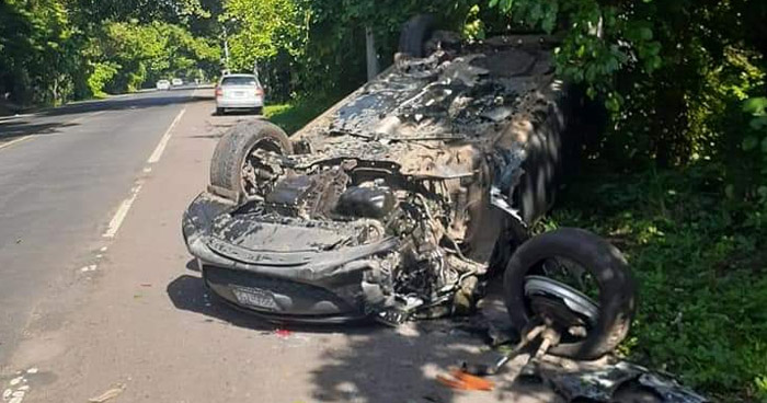 Un lesionado tras fuerte accidente en carretera Panamericana