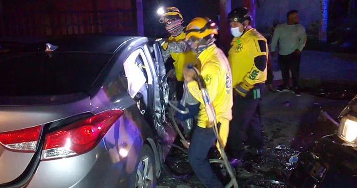 Una menor y dos mujeres lesionadas tras accidente en carretera Troncal del Norte