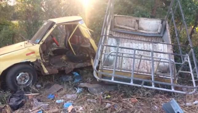 Tres lesionados tras grave accidente de tránsito en carretera de Sonsonate a Acajutla