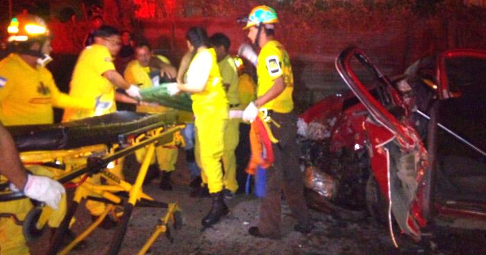 Tres lesionados tras accidente de tránsito en carretera Troncal del Norte