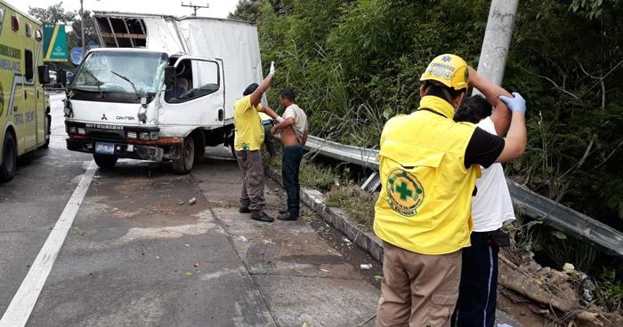Dos lesionados tras accidente de tránsito en carretera Troncal del Norte