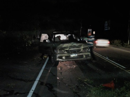 Conductor lesiona a un agente cuando realizaba inspección de un accidente de tránsito en Usulután