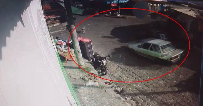 Cámaras de seguridad captaron a vehículo sin frenos que atropelló y mató a ancianos en Usulután