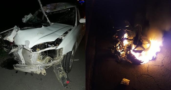 Motociclista murió tras ser embestido por vehículo que sobrepasaba en Usulután