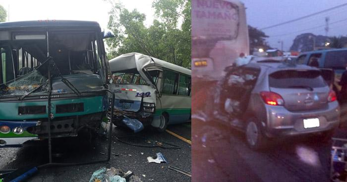 Cuatro atrapados en dos accidentes registrados esta mañana