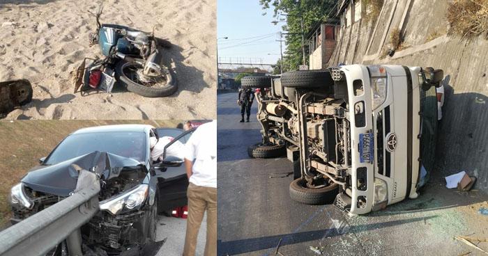 Un muerto y dos lesionados dejaron accidentes de tránsito esta tarde