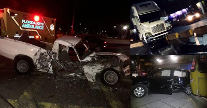 Diferentes accidentes de transito han sido reportados en las ultimas horas