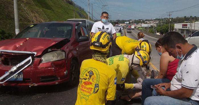 Cinco lesionados tras accidente de tránsito sobre el Bulevar del Ejercito