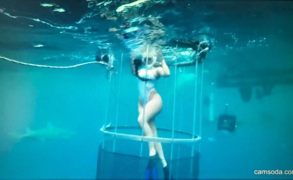 Actriz porno es atacada por un tiburón mientras grababa anuncio