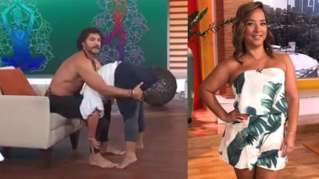 Adamari López sorprende a sus seguidores por realizar comprometedora posición de yoga