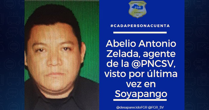 Agente de la PNC desaparecido fue visto por última vez en Soyapango
