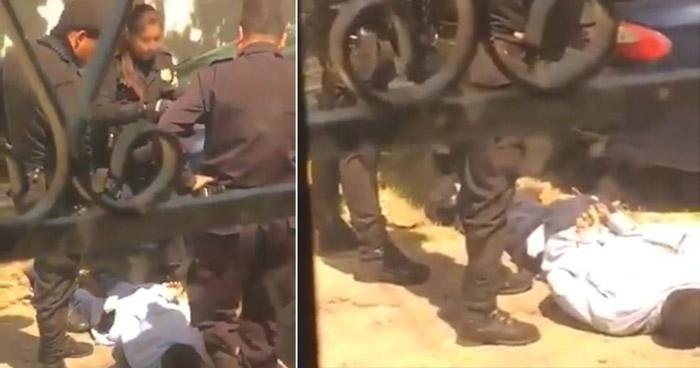 VIDEO | Cuatro agentes de la PNC capturados por «abuso y exceso de fuerza policial»