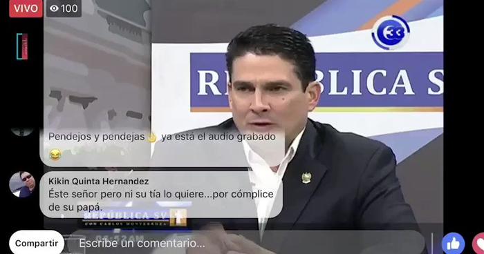 """Difunden audio en el que Roberto d'Aubuisson llama """"Pendej@s"""" a diputados de ARENA"""