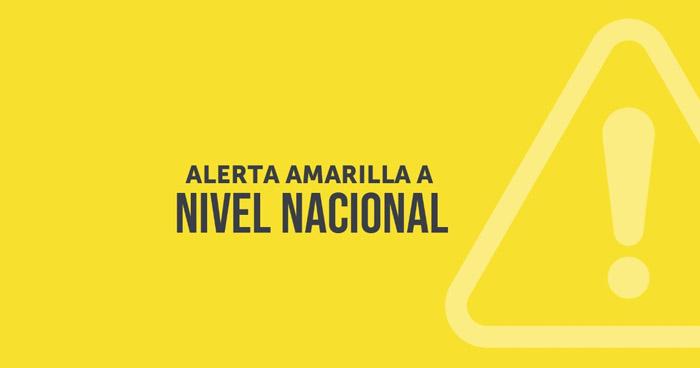 Emiten Alerta Amarilla a nivel nacional por Tormenta Tropical Eta
