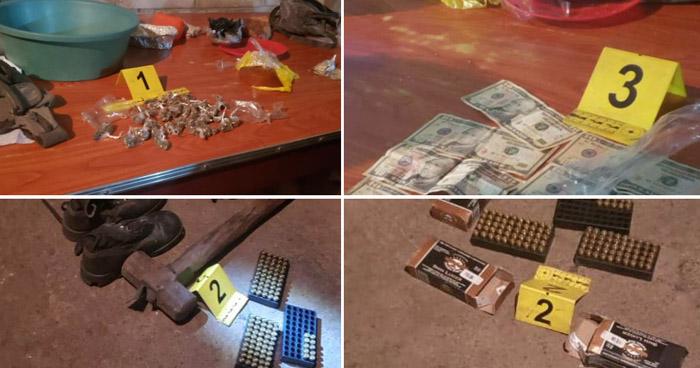 Allana vivienda y encuentran abundante munición y droga