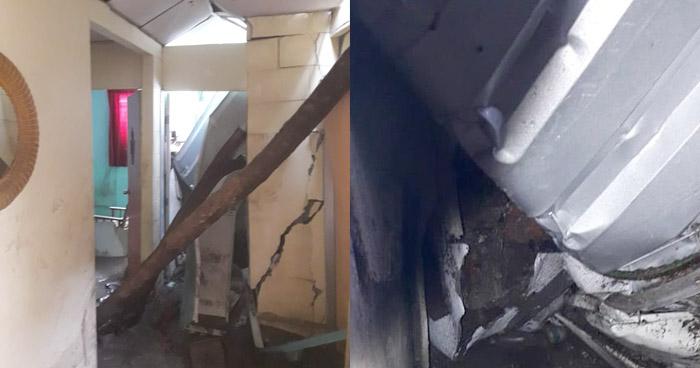 Anciana pierde la vida al colapsar parte del techo de su vivienda