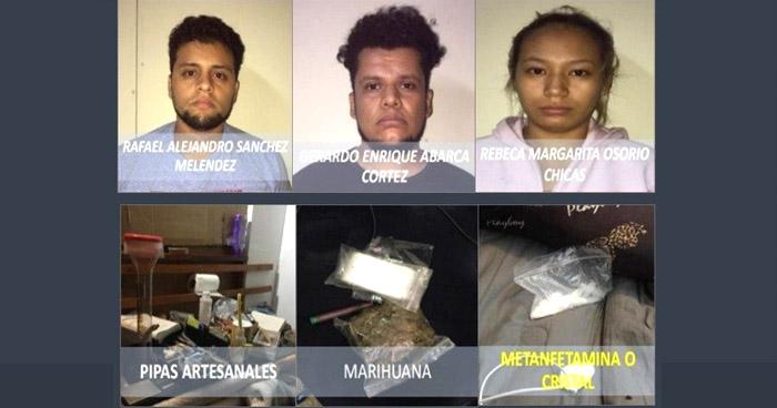 Desarticulan agrupación dedicada al tráfico de drogas en Antiguo Cuscatlán