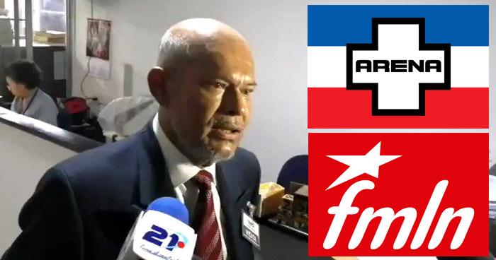 Piden cancelación de los partidos ARENA y FMLN, señalados de cometer fraude con pandillas
