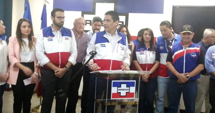 Gustavo López Davidson renuncia a la presidencia de ARENA