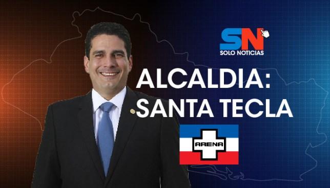 Roberto d'Aubuisson gana por segundo periodo consecutivo alcaldía de Santa Tecla