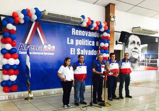 ARENA inscribe a 239 precandidatos a diputados y 400 aspirantes a alcaldes para las próximas elecciones
