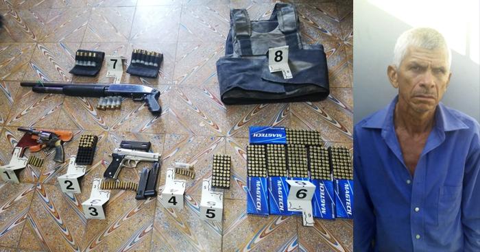 Incautan chaleco antibalas, munición y armas a sujeto acusado de doble homicidio
