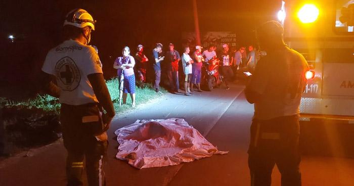 Joven muere al ser arrollado por 4 vehículos en carretera Troncal del Norte