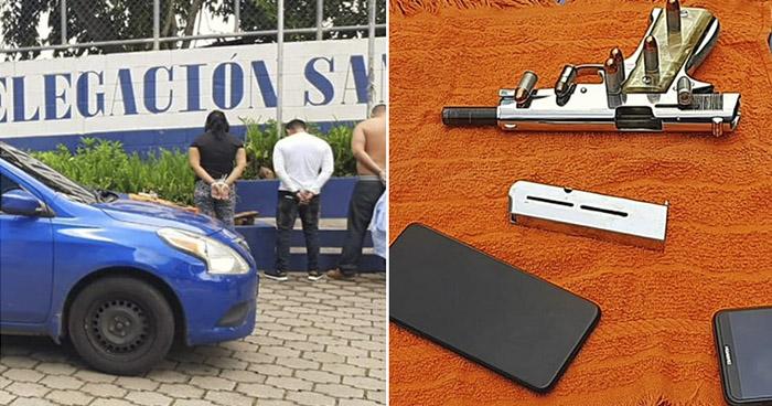 Una mujer y tres hombres asaltaban a personas y negocios en colonia de San Salvador