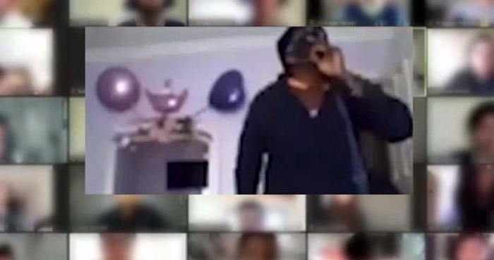 VIDEO | Alumnos y profesor presencian asalto durante clase virtual