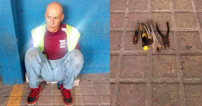 Capturan a hombre que intentó robar a un motorista de la R-30 con un destornillador