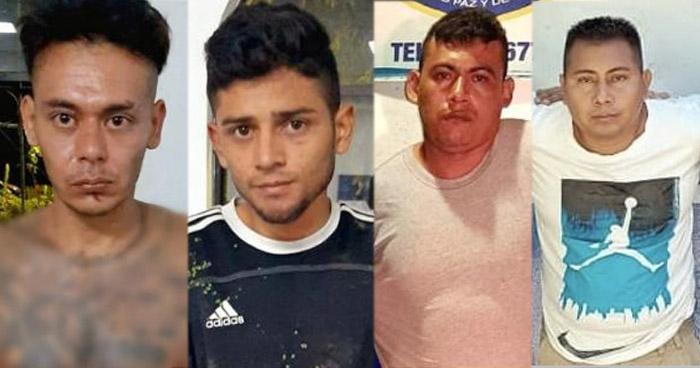 Cuatro pandilleros capturados tras atacar a un agente de la PNC
