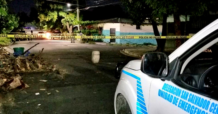 Dos lesionados deja ataque armado en la Colonia Luz de San Salvador