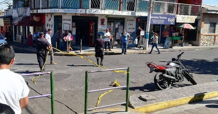 Un lesionado tras ataque armado frente a plaza Centenario de Quezaltepeque