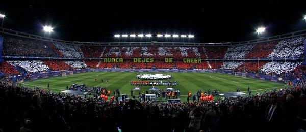 El Vicente Calderón se despedirá de las Noches Mágicas de la UEFA Champions League