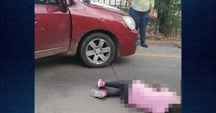 Mujer es atropellada con su hija en brazos en Lourdes, Colón