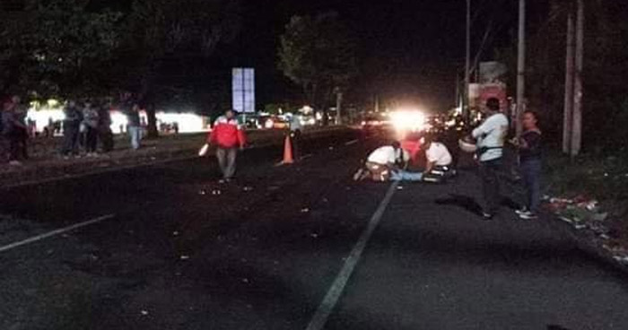 Mujer ebria muere al ser atropellada en carretera de Santa Ana