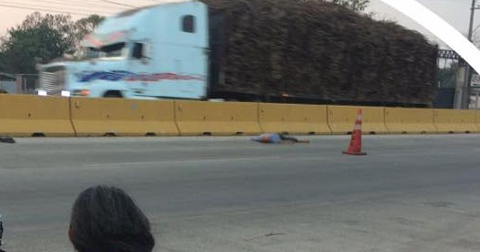 Un hombre murió tras ser atropellado en la carretera de Sonsonate a Acajutla