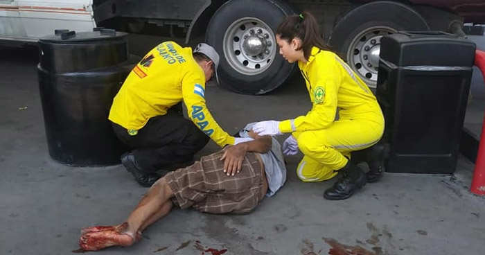 Hombre gravemente lesionado tras ser atropellado en Apopa