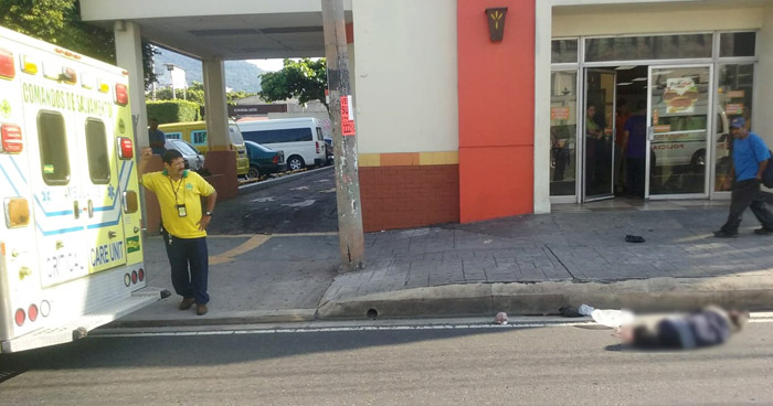 Hombre muere al ser atropellado cerca del mercado La Tiendona