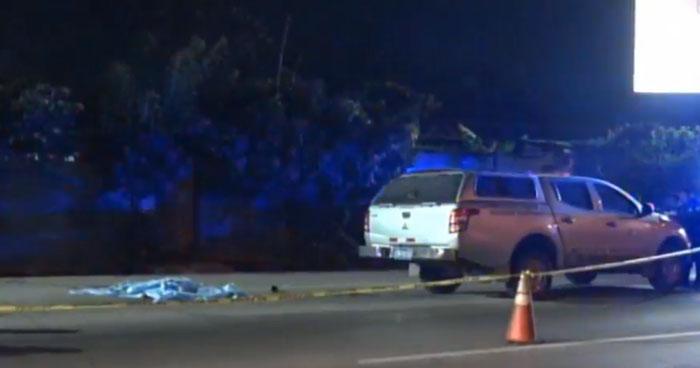 Hombre murió al ser atropellado cuando cruzaba la carretera Panamercana, Antiguo Cuscatlán