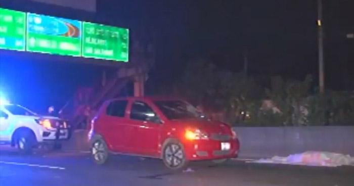 Hombre pierde la vida al ser atropellado en carretera a Quezaltepeque