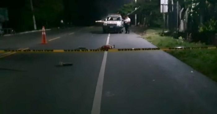Conductor atropella y mata a un anciano en Concepción Batres, Usulután