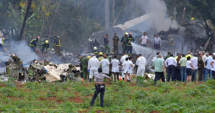 Avión se estrella poco después de despegar del Aeropuerto de La Habana en Cuba