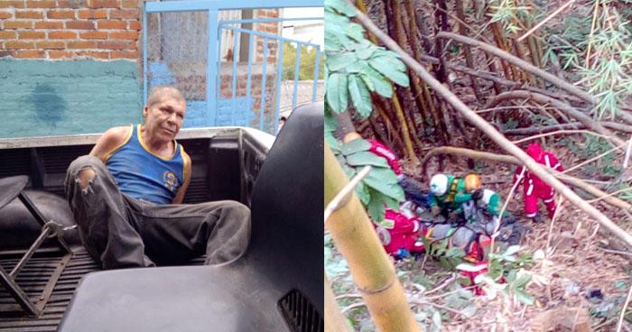 Hombre ebrio empujó a su pareja a un barranco en Ciudad Delgado