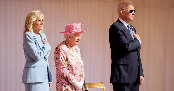 Reina Isabel II recibe a Joe Biden en el castillo de Windsor