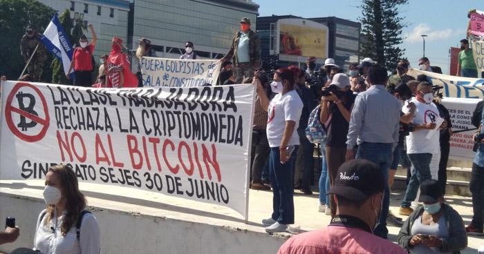 Rechazan entrada en vigencia del Bitcoin en El Salvador